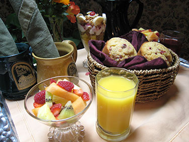 Fresh and Healthy Breakfast at Door County Bed and Breakfast